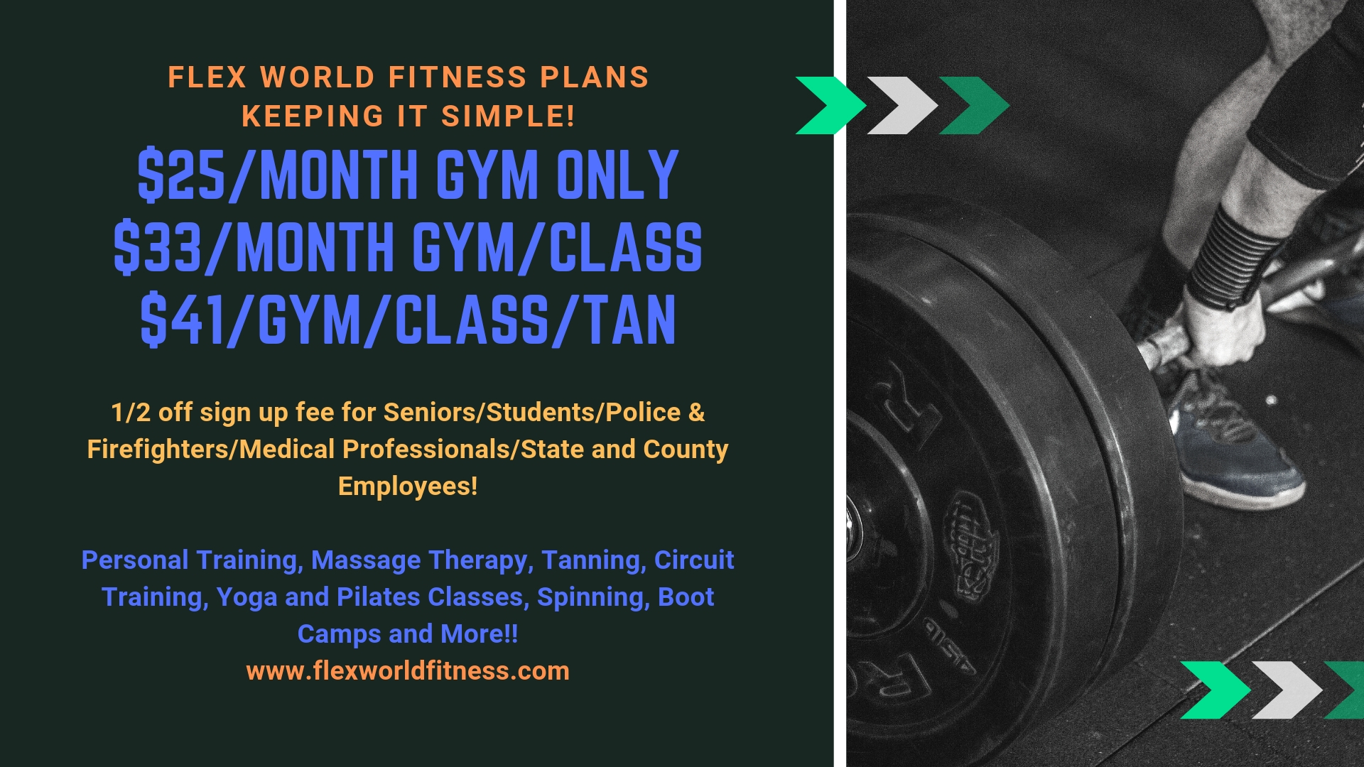 Flex World FitnessFlex World Fitness | Gym | Aerobic Classes